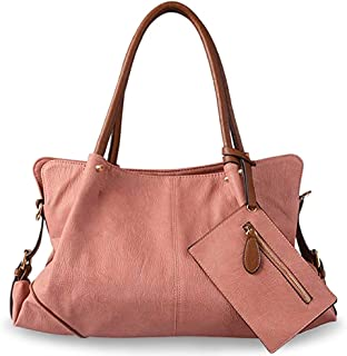 63570a68924c UTO Women Hobo Purse 3 Pieces Handbag Set PU Leather Tote Bag Satchel Shoulder  Bags with