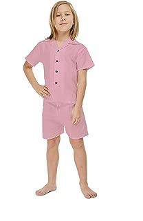 Hawaii Hangover Boy Aloha Linen Cotton Shirt Cabana Set in Shark Tooth