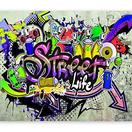 murando Papier peint intissé 300x210 cm Décoration Murale XXL Poster Tableaux Muraux Tapisserie Photo Trompe l'oeil Graffiti coloré eau i-A-0108-a-d