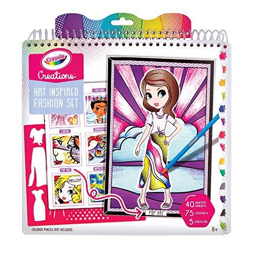 Crayola Creations Album da Colorare Collezione Arte e Moda, Attività Creativa e Regalo per Bambine, Età 8+, 26200
