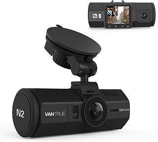 ドライブレコーダー 前後カメラ VANTRUE N2 駐車監視 1080P 前後録画 デュアルレンズ フルHD HDR ドラレコ 1.5インチLCD 広視野角 ダブルカメラ搭載(車内+車外) 同時録画 G-センサー 夜視機能搭載 12V/24V車に対応 18ヶ月延長保証