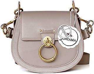 Onzama Damen Designer Schulter Sattel Geldbörsen Armband Crossbody Taschen Kuh Leder Ring Satchel