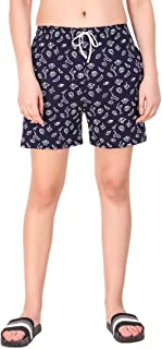Kiba Retail Casual Wear Cotton Check/Printed Shorts for Women's and Girl's Pack of 1 {Size-26, 28, 30, 32, 34}Color-Multicolor