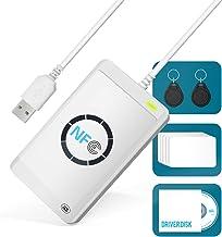 Lector de Tarjetas Inteligentes NFC Escritor ACR122U RFID M1 UID Lector de Tarjetas Compatible PC/SC 424 Kbps Velocidad de Lectura Compatible con ISO 14443 A&B Mifare Felica ISO IEC 18092 Etiquetas