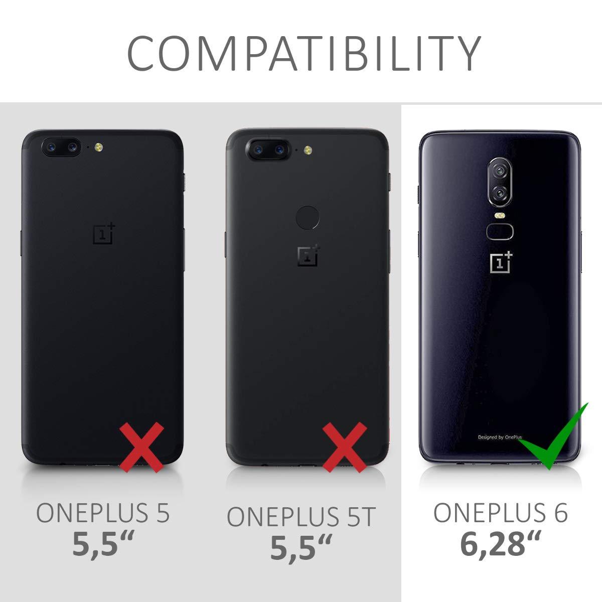 kwmobile Funda para OnePlus 6 - Carcasa de TPU para teléfono móvil ...