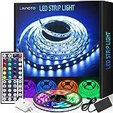 LED Strip Lights 16.4ft 5050 RGB Color Changing Lights Flexible Tape 150 LEDs Light Strips Kit with IR Remote Controller Power Kit for Home Bedroom Kitchen DIY Decoration