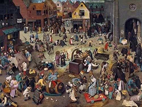 Jigsaw Puzzle Pieter Bruegel d. Ä. - Series of The so-Called Bilderbogenartigen Paintings, Scene: Quarrel of The Carnival with The Lent