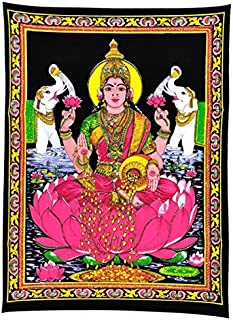 Gangesindia Maa Lakshmi Goddess of Wealth & Prosperity - Cotton Tapestry
