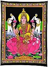 Gangesindia Maa Lakshmi Goddess of Wealth & Prosperity - Cotton Tapestry