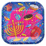Hanukkah Plates - Chanukah Paper Goods - 7 Inch - Serves 10
