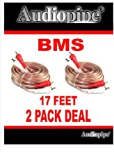 2 Pack 17 Feet 2 RCA Male to 2 RCA Male Stereo Car Audio Interconnect Cable