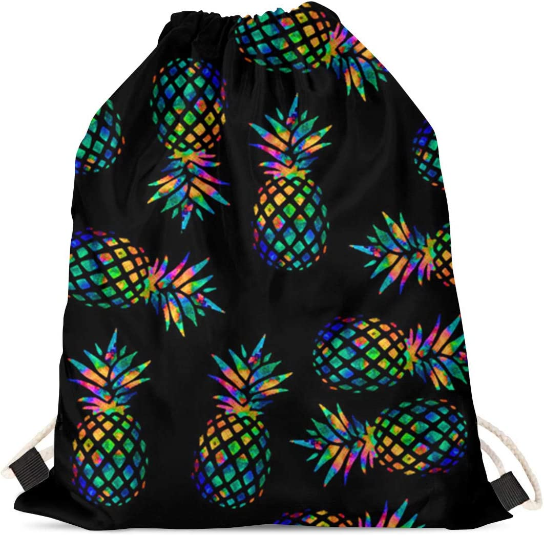 JEOCODY Goofy Boston Terrier Animal Drawstring Sackpack Gymsack Beach Shoulder Backpack Travel Satchel Sack Pack