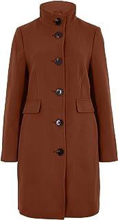 Marks & Spencer Women's Funnel Neck Coat, COGNAC