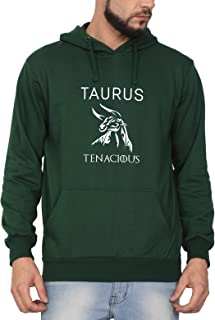 Swag Swami Unisex Cotton Taurus Tenacious Zodiac Printed Hoodie | Hooded Sweatshirt