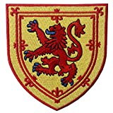 Escudo de armas de Escocia Escudo de león cruzado Parche Bordado de Aplicación con Plancha