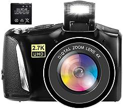 Digital Camera Full HD 2.7K Vlogging Camera 48.0...