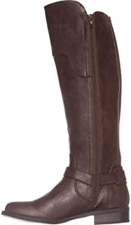 G by Guess   Harson Knee High Boots Wide Calf   Brown