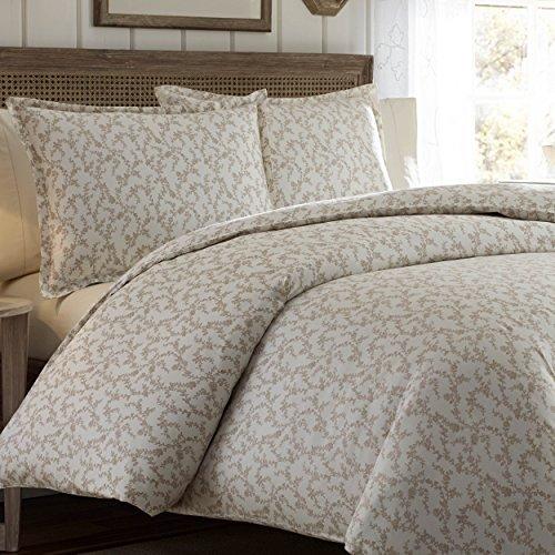 Laura Ashley Victoria - Juego de funda nórdica para cama individual, color gris pardo