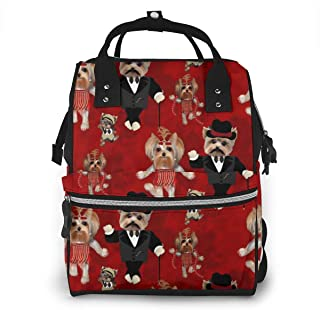 Yorky Family Dancing Multi-Function Travel Backpack Nappy Bag,Fashion Mummy Bag