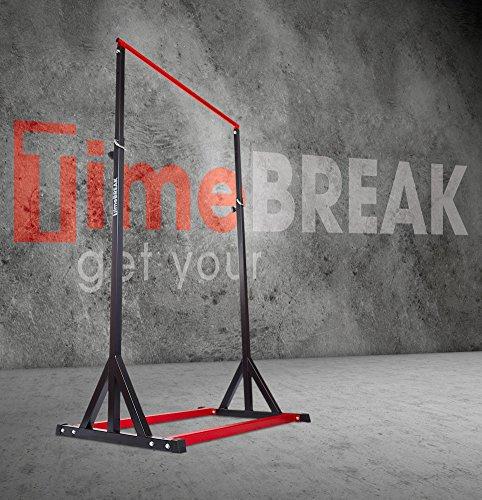 Timebreak Sbarra autoportante, Stazione autoportante per trazioni G-Force, Pull up Bar Station Portable Altezza Massima 255...