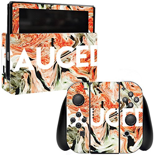 MightySkins Skin Compatible with Nintendo Switch - Sauced | Protective, Durable, and Unique Vinyl Decal wrap Cover | Easy to Apply, Remove, and Change Styles | Made in The USA