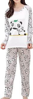 MyFav Big Girls Cute Panda Pajama Set Casual Comfy Loungewear Children Sleepwear