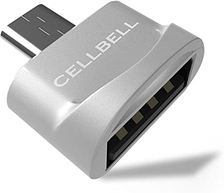CELLBELL® Type-C to USB A Female OTG Adapter for Type-C OTG Supported Devices