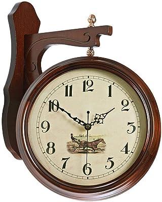 HUANGYAHUI Despertador Plancha De Doble Cara Reloj De Pared ...