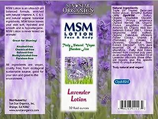 MSM Lotion - Lavendar, 32oz
