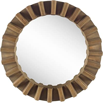 Mercana Modern Mirror with Brown Finish 67047