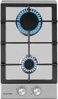 Klarstein Ignito - Table de cuisson à gaz, Deux brûleurs Sabaf, Solide croix en fonte, Pour tous les types de casseroles e...