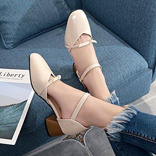 Xue Qiqi Sandales filles wild rugueuse avec des fentes permettant de chaussures femmes soft MEI HONG Mei, et,39, chaussures beige