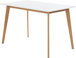 COMIFORT Mesa de Cocina / Escritorio Diseño Nordico - Patas de Madera de Haya. Mesa Alta para Salon Cocina Escritorio Orde...