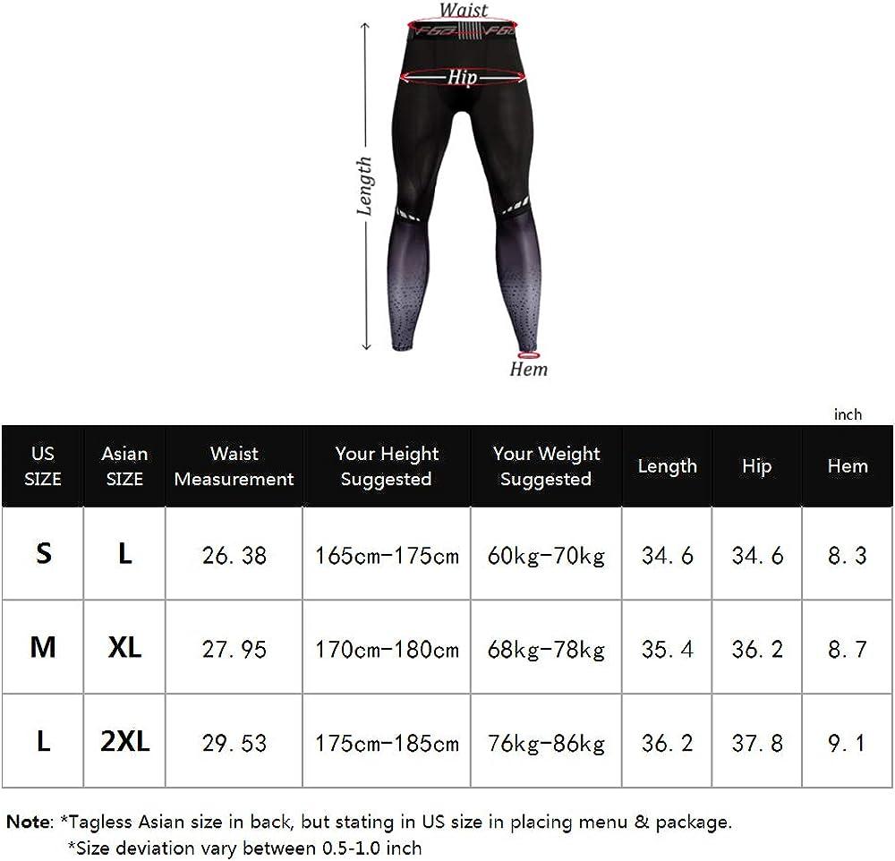 Muscle Alive Hombres Gimnasio Culturismo Compresi/ón Leggins Medias Rutina de Ejercicio Aptitud Pantalones Capa Base Fresco y seco