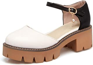 Sexy Women's High Heel Sandals Ankle Strap Platform Thick Heels Sandals Summer Shoes