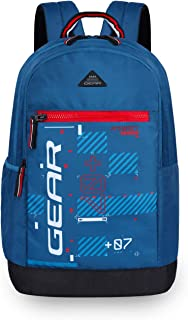 Gear Basic 2 20 Ltrs Moroccan.Blue-Red Casual Backpack (BKPBASIC20509)