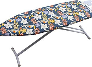 """GCARTOUR Replacement Ironing Board Cover - Drawstring Tightening - Fits Standard Large Boards of 15""""x54"""" (Navy Blue/Toucan)"""