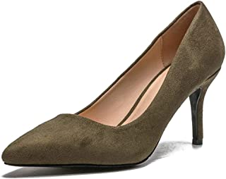 Sam Carle Women Pumps,Fashion Sexy 8CM Thin Heel Pointed Toe Solid Color Wedding Office Shoes
