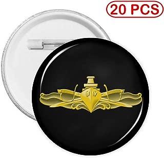 US Navy Surface Warfare Officer Button Pin Round Badge Circle Brooches 20 PCS L