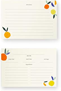 Kate Spade New York Double Sided Recipe Card Refills, Set of 40, Citrus Twist