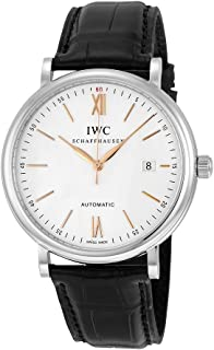 IWC Men's Swiss Automatic Watch with Stainless Steel Strap, Black (Model: IW356517)