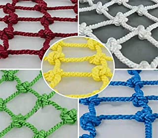 Garden rope net safety net cargo network Rope net outdoor children s rope net safety net home stairs balcony protection net kindergarten color decoration net climbing net suspension bridge  fence  gar