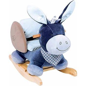 10-36 Mois Bleu 60 x 39 x 50 cm Nattou Bascule Lapin Bibou