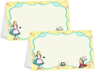 POP parties Alice in Wonderland Vintage - 12 Table Tents - Alice in Wonderland Buffet Cards - Alice in Wonderland Place Cards - Tea Party Decorations - Alice in Wonderland Party Supplies