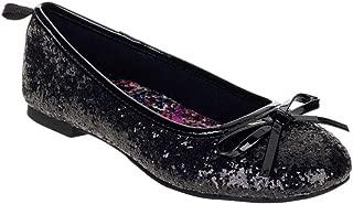 Girls Casual DAZZEL Flat, Size 5(Black)