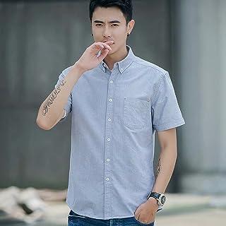 シャツ メンズ ビジネス 形態安定 無地 半袖 2018夏 ノーアイロン 100%コットン ドライイージーケアチェックシャツ(レギュラーカラー・半袖)