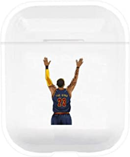 Protective Hard Shell Cases by TorontoFinds, Basketball Sports Custom Transparent/Clear Water Resistant case Compatible with AirPods 1/2