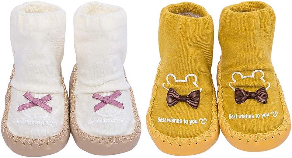 Süße Unisex Baby Socken Schuhe Baby Jungen rutschfeste Hausschuhe Socken Mädchen Lauflernschuhe Prewalker Baumwolle reich Boden Socken Baby Mokassins mit Griffen für Kleinkinder