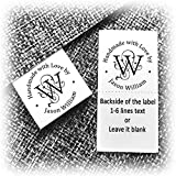 200pcs Clothing Label Sewing Sew on in tag Custom Name Design Handmade Business Text Logo Personalized Soft Satin Ribbon Waterproof Washable Fabric Label Size 1.2'
