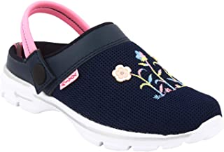 KazarMax Navy Floral Slipon's/Sandals/Hopits/Clogs and Mules for Kids/Sandals/Hopits/Clogs and Mules for Kids (Made in India)